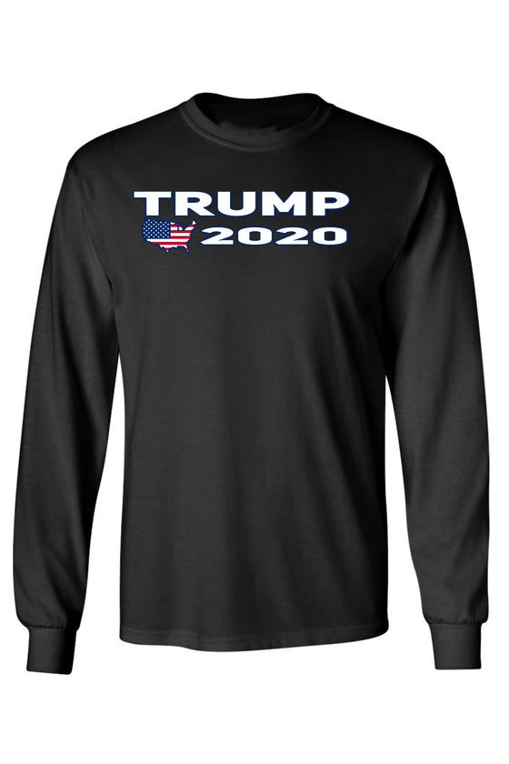 Unisex Trump USA Flag Long Sleeve Shirt