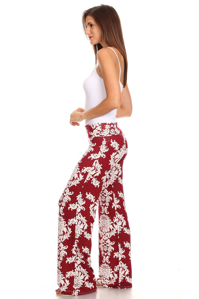 Women's Printed Palazzo Pants Made in USA