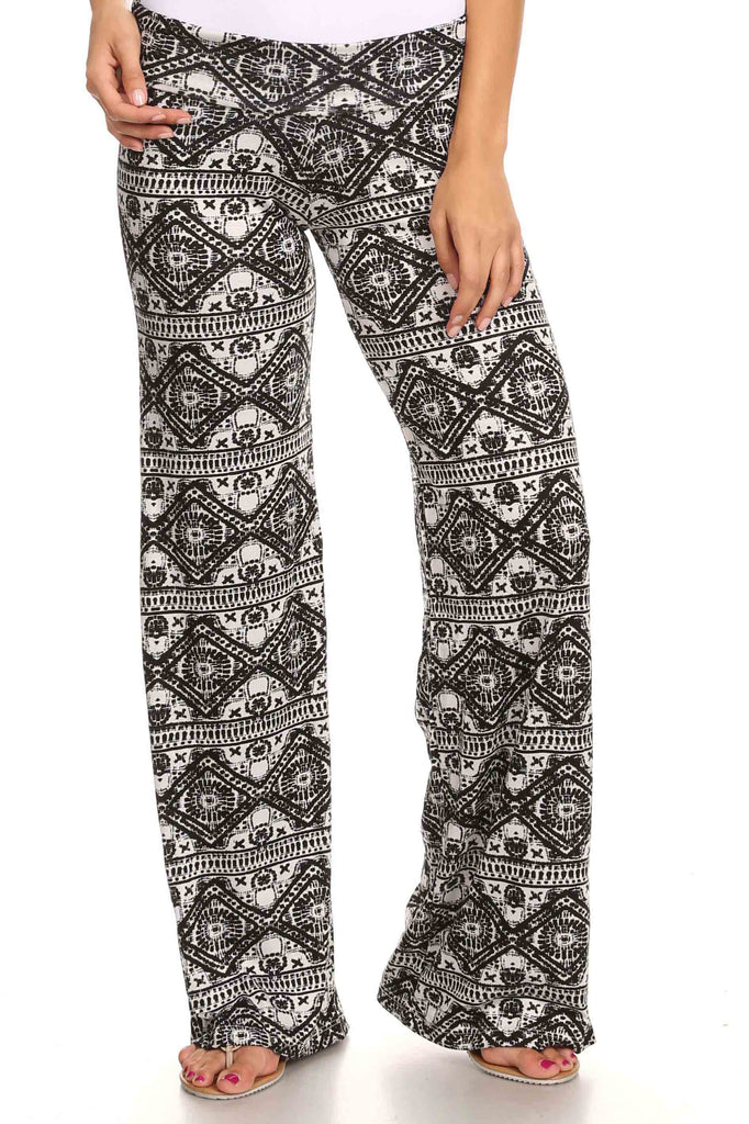 Women's Printed Palazzo Pants Made in USA!