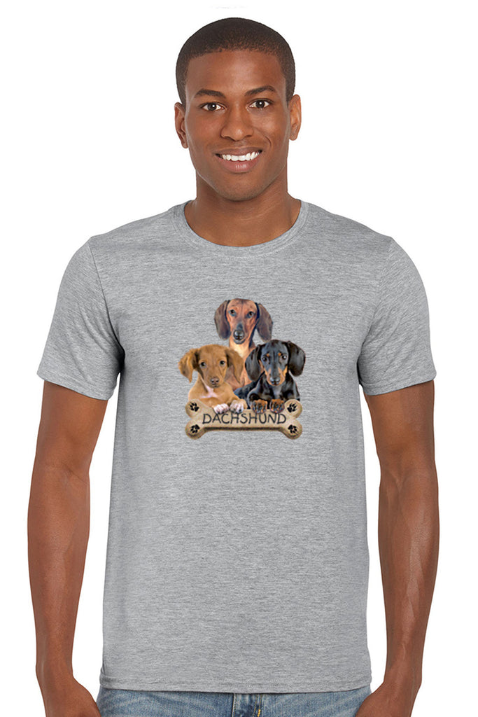 Men's T Shirt Dachshund Dogs Short Sleeve Tee