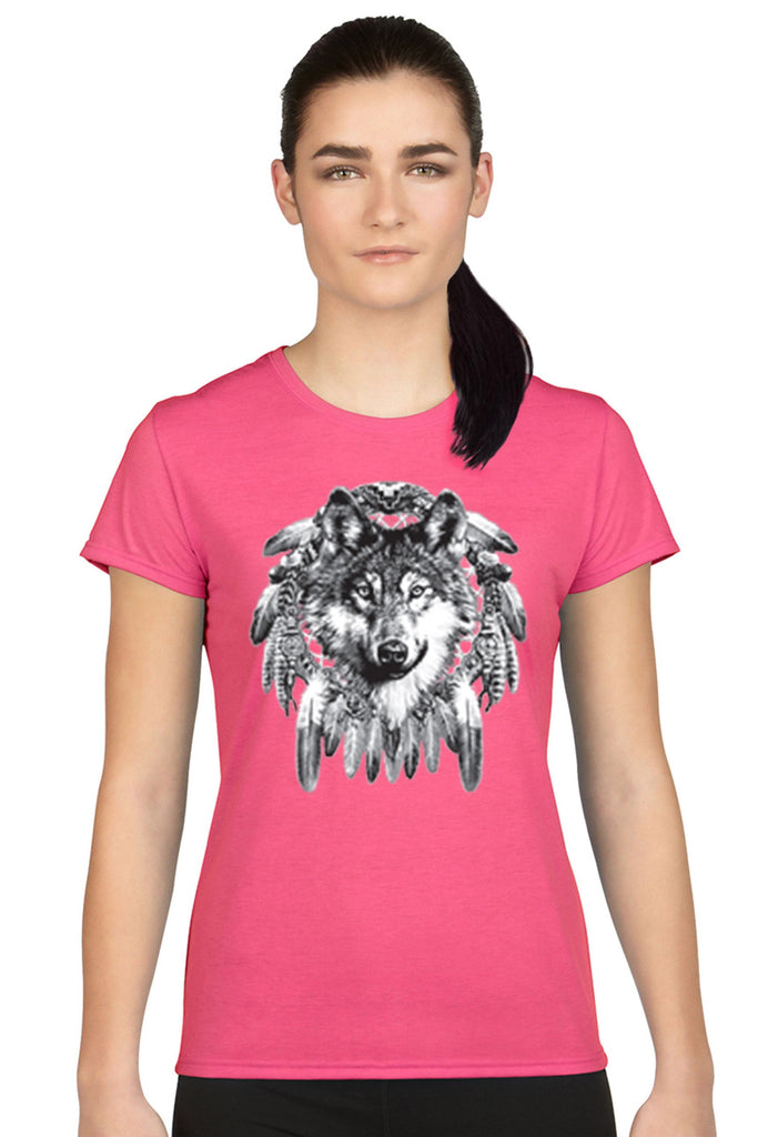 Women's Juniors T Shirt Indian Wolf