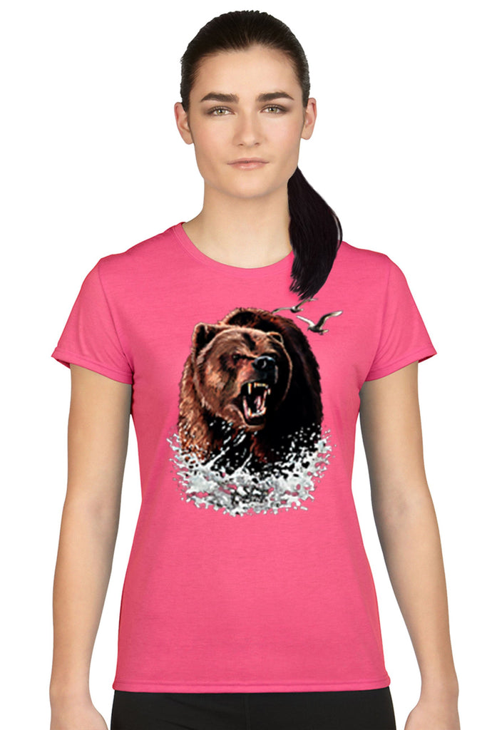 Women's Juniors T Shirt Grizzly Bear