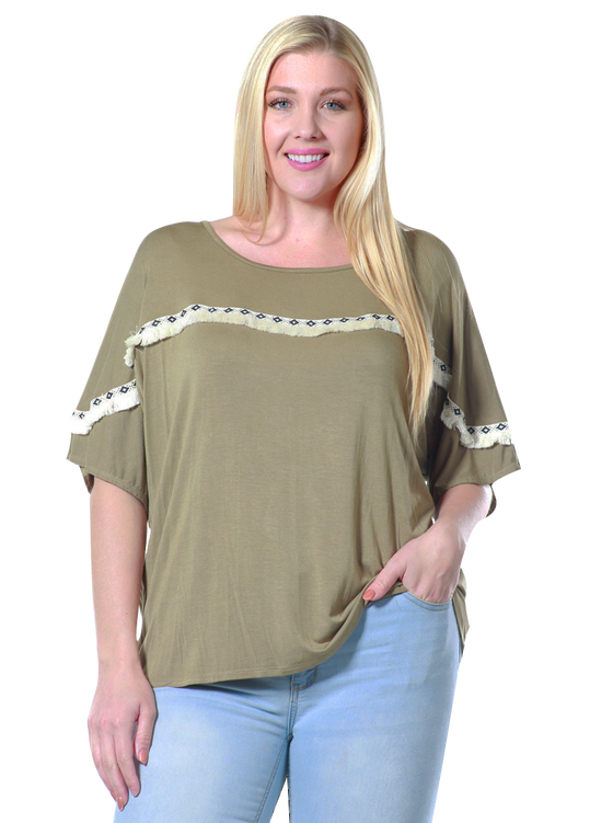 Women's Plus Size Blouse Dolman Casual Top Made in the USA