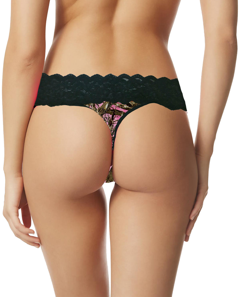 Women's Camo Lace Thong Panties G-String True Timber Lingerie Panties