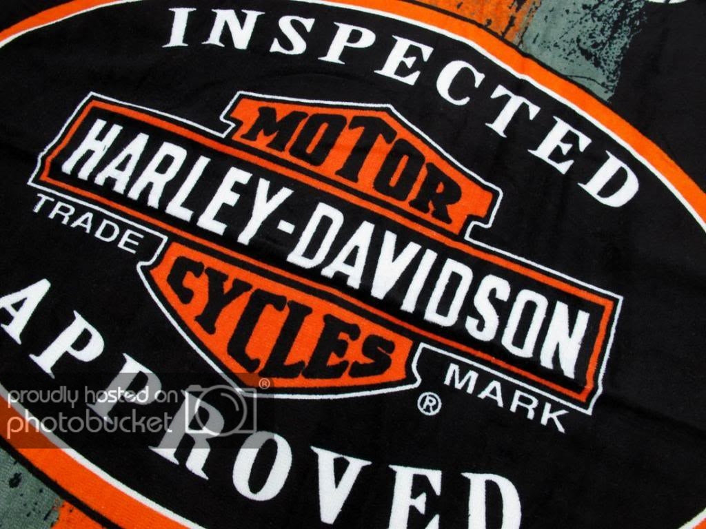 "Licensed Harley Davidson Motor Cycles 30""x60"" HD Inspected"