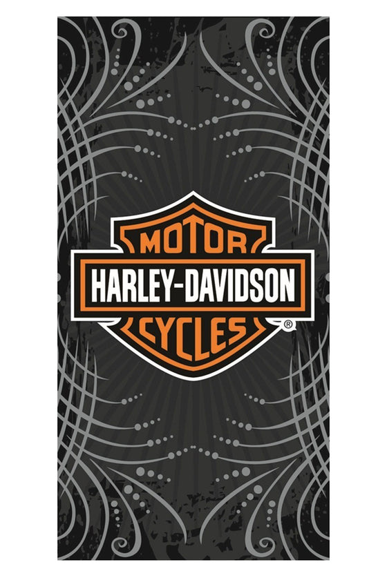 "Licensed Harley Davidson Motor Cycles Bath Beach Towel 30""x60"" Goth Towel SHORE TRENDZ BLACK"