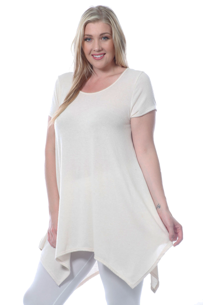 Women's Plus Size Short Sleeve Top Shirt Made in USA 1X, 2X, 3X