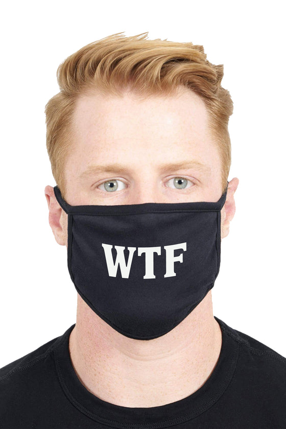 Unisex Custom Design WTF Anti Dust Funny Fashion Face Mask