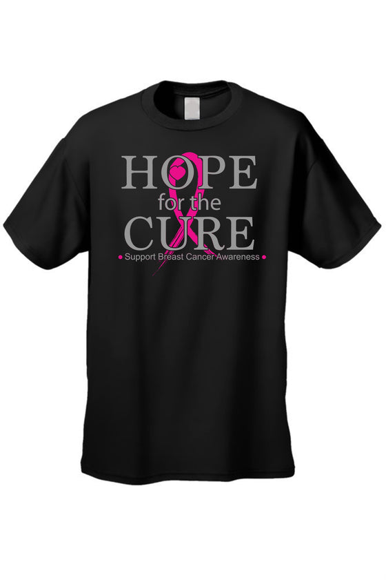 Unisex T Shirt Breast Cancer Awareness Hope for the Cure