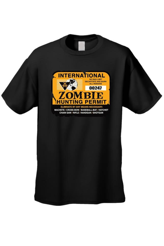 "Men's""International ZOMBIE HUNTING PERMIT""  Short Sleeve T-shirt"
