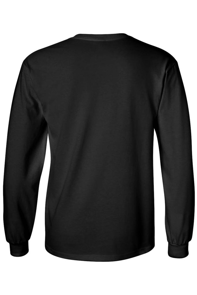 Unisex Long Sleeve Shirt Motorcycle Flames Skull Cross