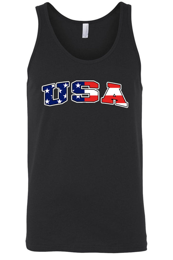 USA Flag Tank Top Shirt American Pride