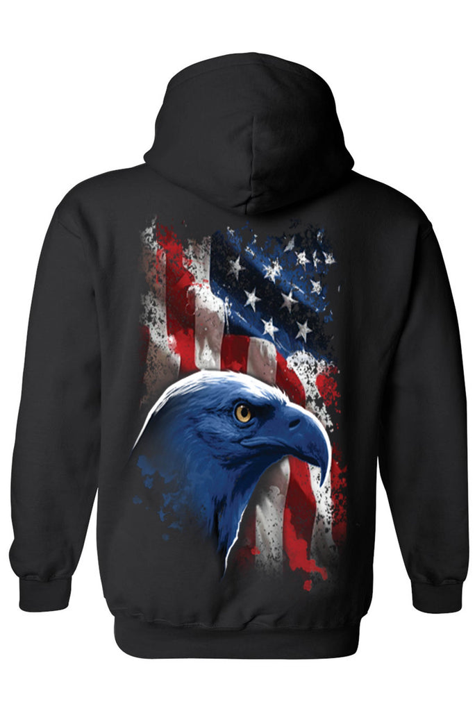 Unisex Pullover Hoodie USA Flag American Icon