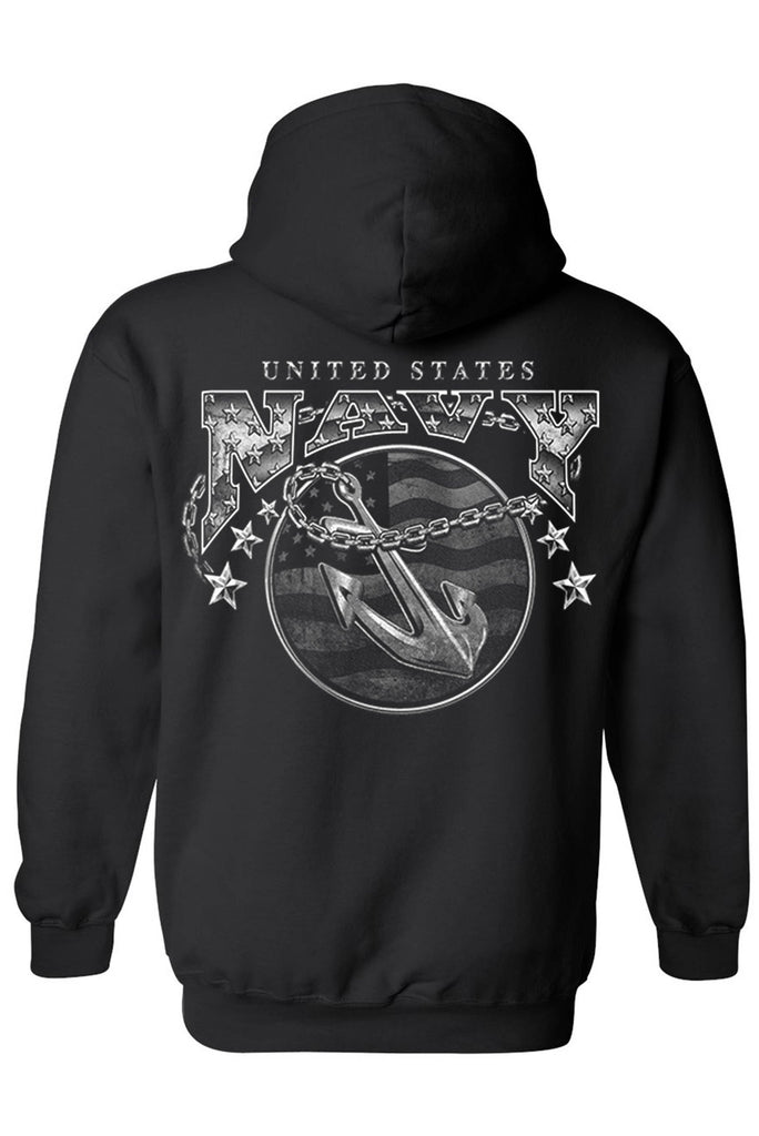 Unisex Zip Up Hoodie United States Navy Naval Forces