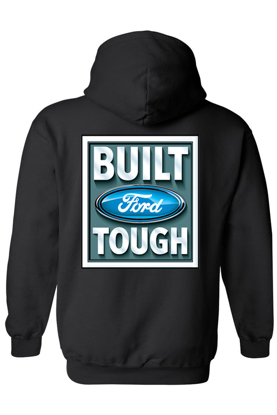 Unisex Zip Up Hoodie Ford Built Tough Ford Racing