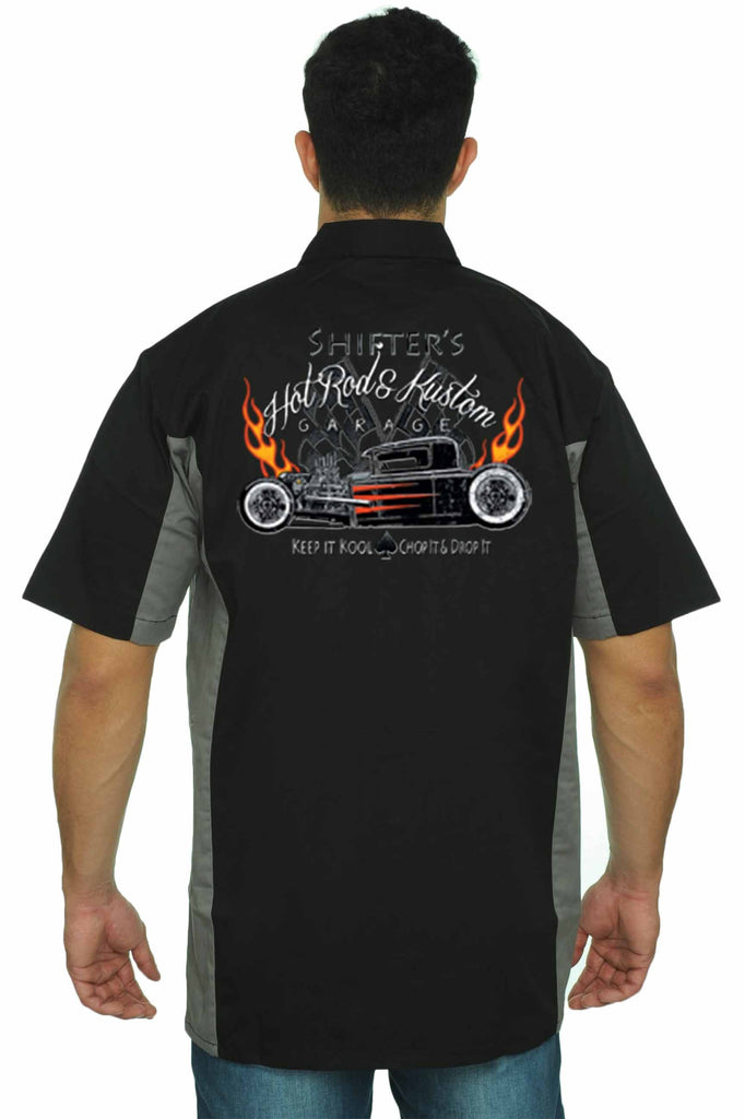 Men's Mechanic Work Shirt Shifter's Hot Rod Kustom
