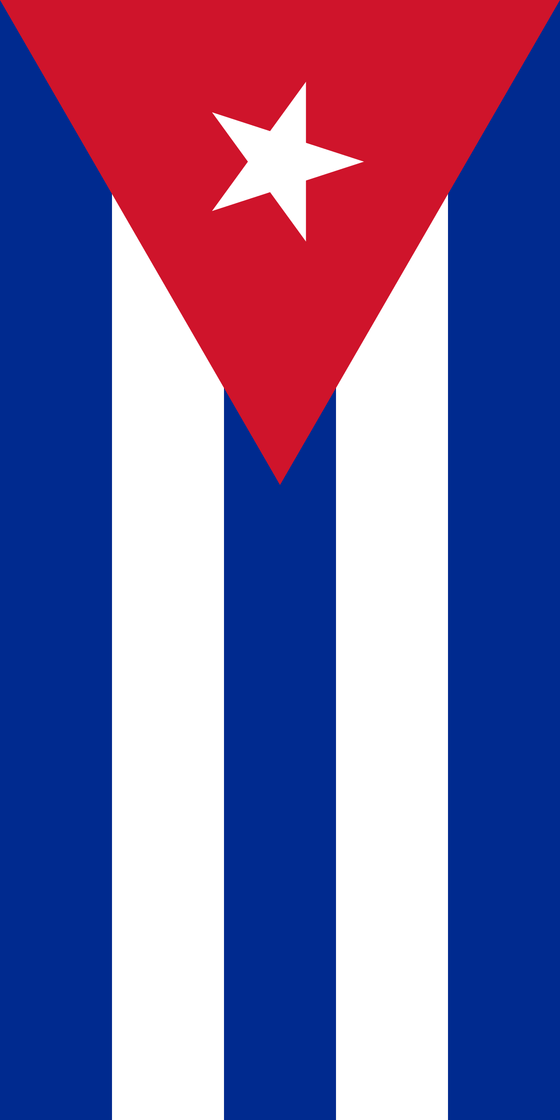 Beach Towel 30X60 Cuba Flag Pride Towel SHORE TRENDZ RED 30X60