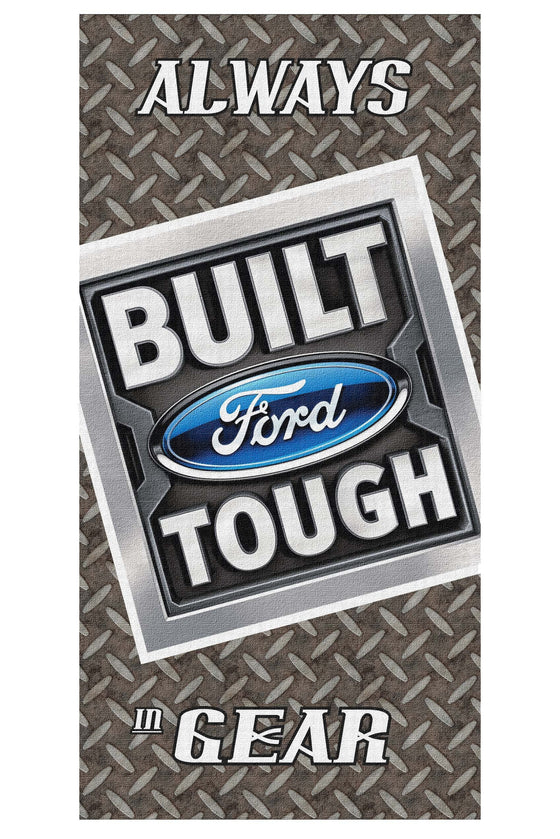 Beach Towel 30X60 Always In Gear Ford Built Tough Licensed Pool Car Towel SHORE TRENDZ GREY