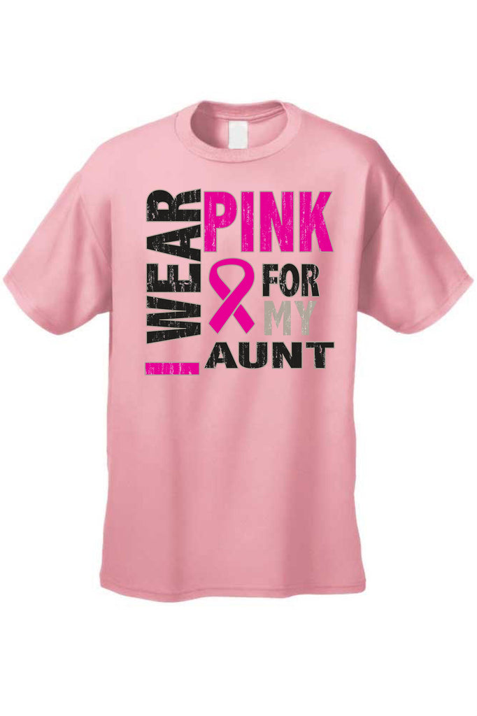 Unisex T Shirt Breast Cancer Awareness I Wear Pink For My Aunt