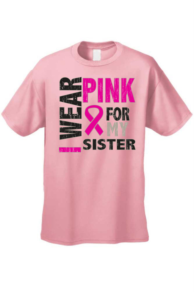 Unisex T Shirt Breast Cancer Awareness Real Men Wear Pink
