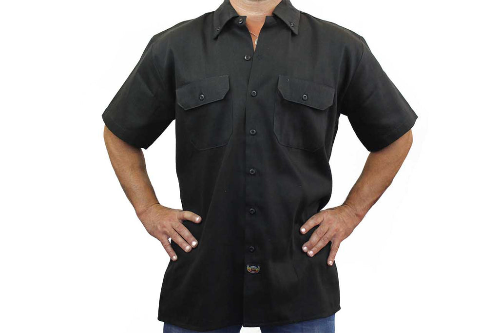 Men's Mechanic Work Shirt Spades 4 of a Kind with Dice