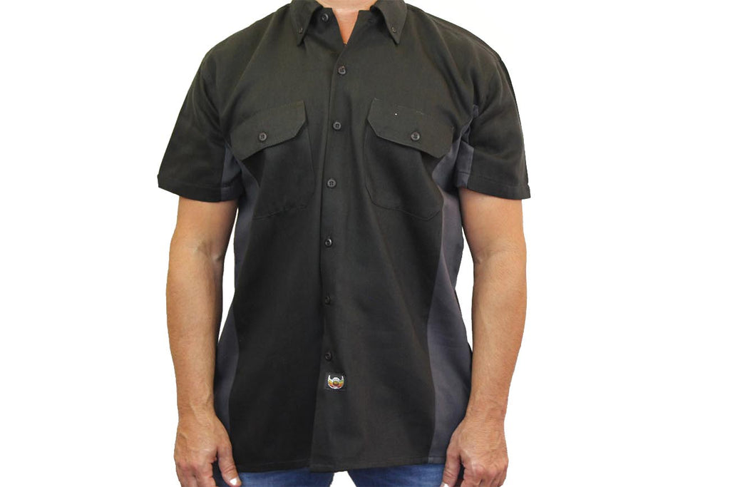Men's Mechanic Work Shirt Biker Fill'er Up