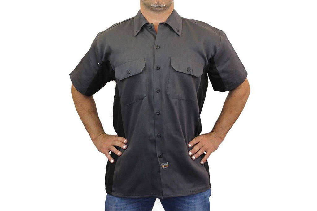 Men's Mechanic Work Shirt Fast Lane American Racing Mechanic Work Shirts SHORE TRENDZ