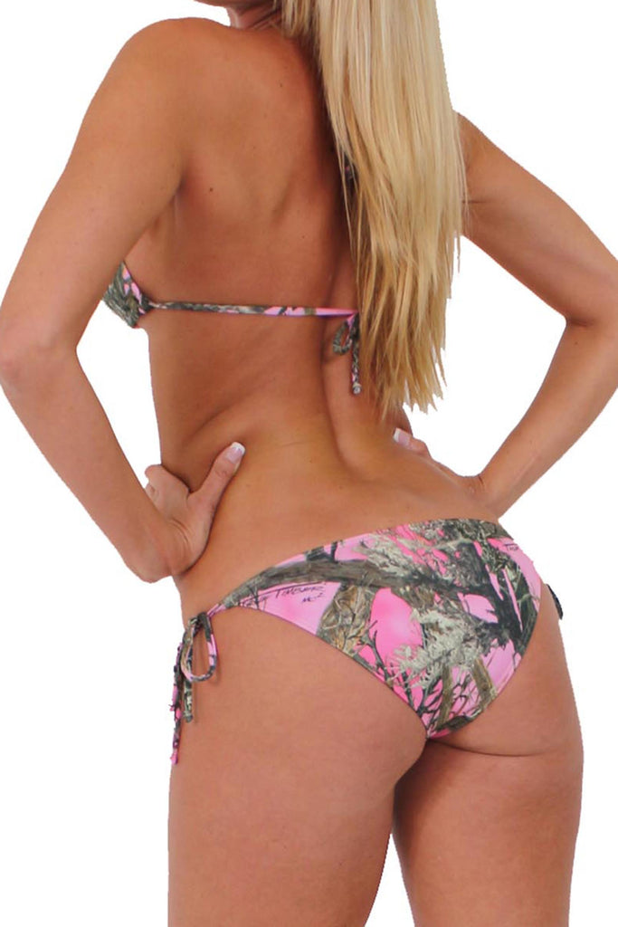 Women's Pink Authentic True Timber Bikini Bottom Only Swimwear Made in USA