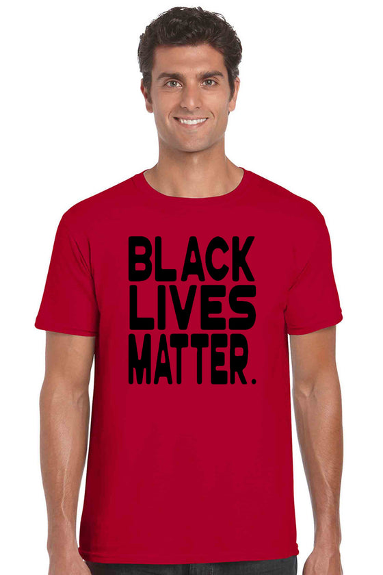 Men's T Shirt Black Lives Matter Short Sleeve Tee