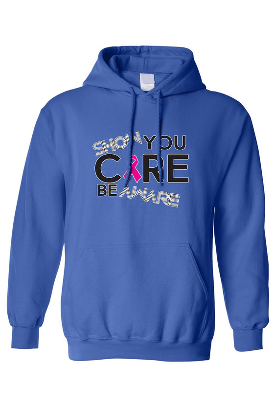 Unisex Pullover Hoodie Breast Cancer Awareness Show You Care Be Aware