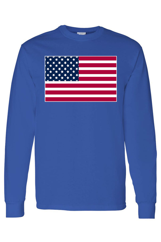 Men's/Unisex United States of America Flag USA Pride  Long Sleeve T-shirt
