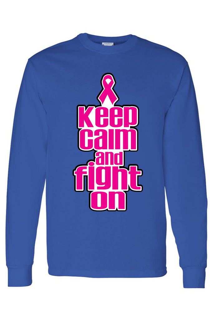 "Men's/Unisex BCA ""Keep Calm and Fight on"" Long Sleeve T-shirt"