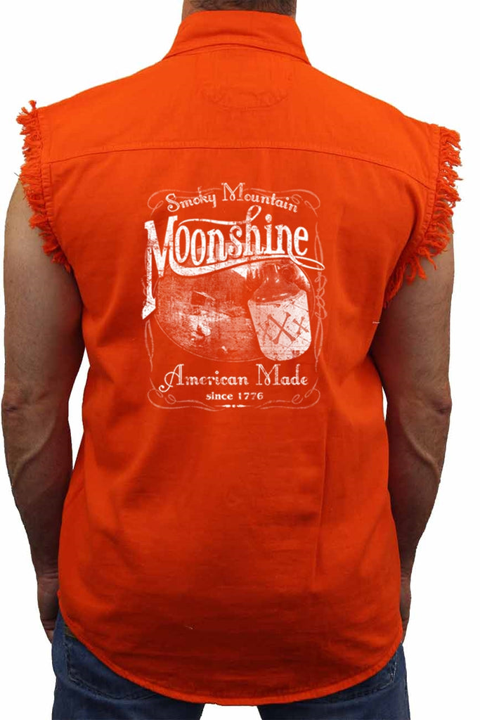 "Sleeveless Denim Shirt ""Smoky Mountain Moonshine"""