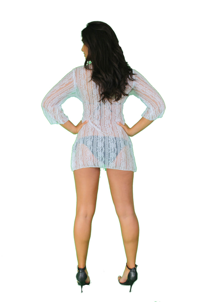Women's Gorgeous Lace Swimwear Cover up Beach Dress Made in the USA