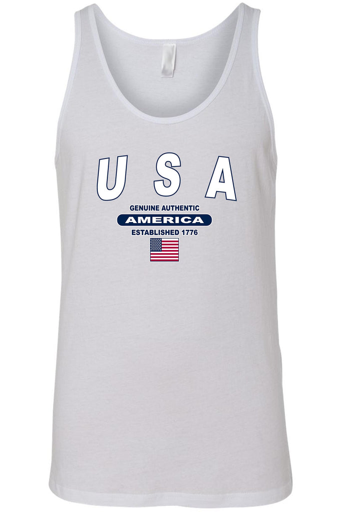 Men's USA Flag Geniune Authentic America Tank Top Shirt