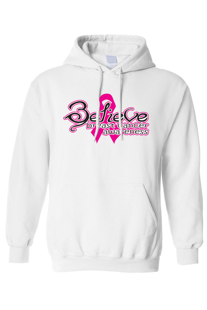 Unisex Pullover Hoodie Breast Cancer Awareness Believe