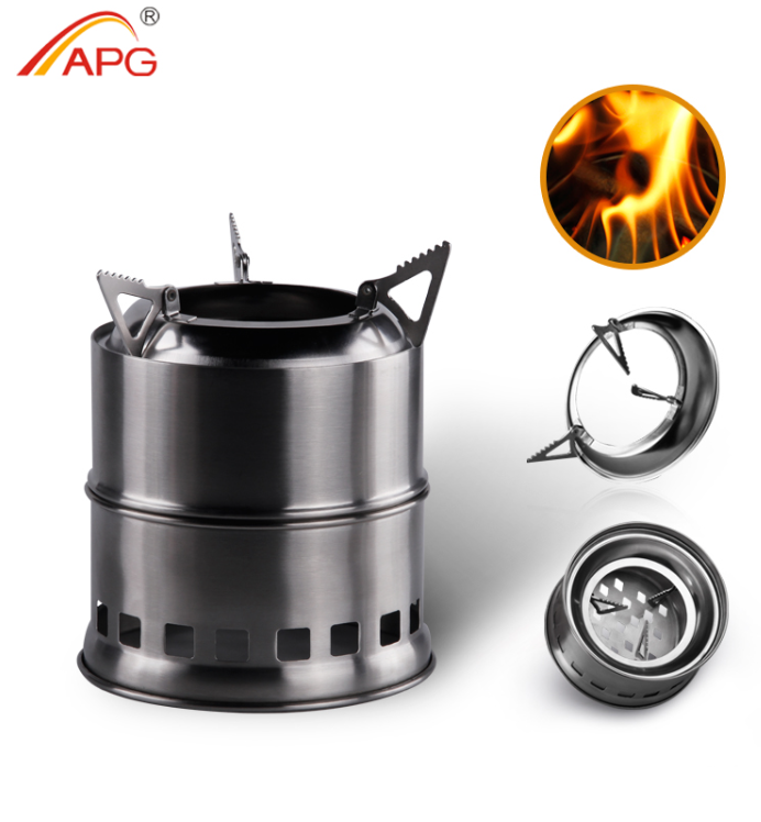 Outdoor Wood, Alcohol, Solid fuel Camping Stove