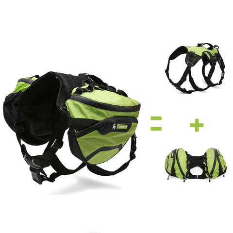 Dogs Waterproof Outdoor Backpack Harness
