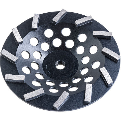 "7"" Diagonally Segmented Cupwheel ( Black )"