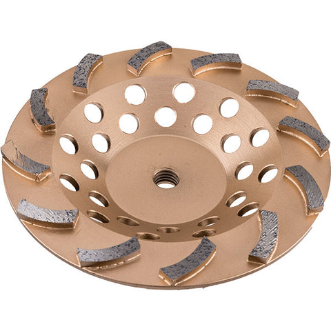 "7"" Diagonally Segmented Cupwheel ( Gold )"