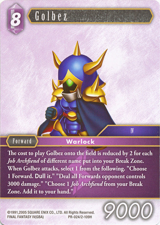 Golbez Promo Alternate Art (PR-024/2-109H)