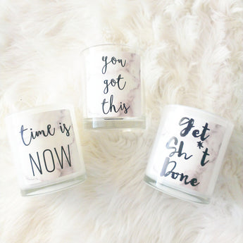 MARBLE QUOTES 1 - SOY CANDLES