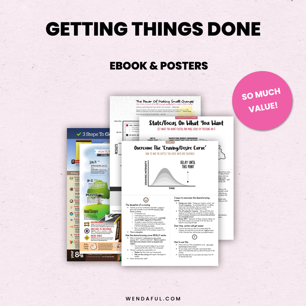 Getting Things Done Info Sheets - Wendaful Planning
