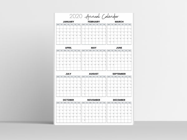 Wall Calendars - 2020, 2021 & Undated Versions - Wendaful Planning