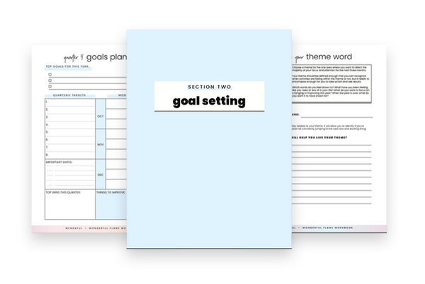How to Set Goals and Break them Down - Wendaful Planning