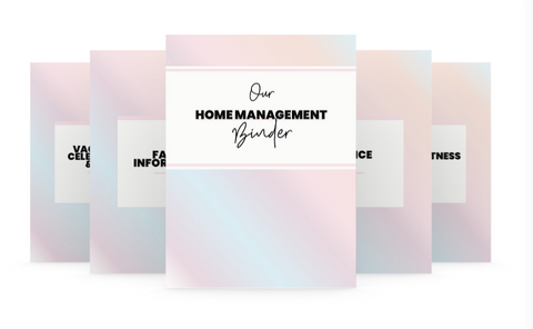 Printable Home Management Binder - Wendaful Planning