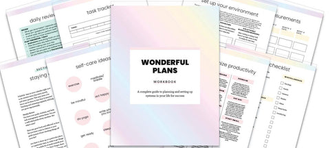 COMPLETE BUNDLE - WONDERFUL PLANS: WORKBOOKS & EBOOK ECOURSE - Wendaful Planning