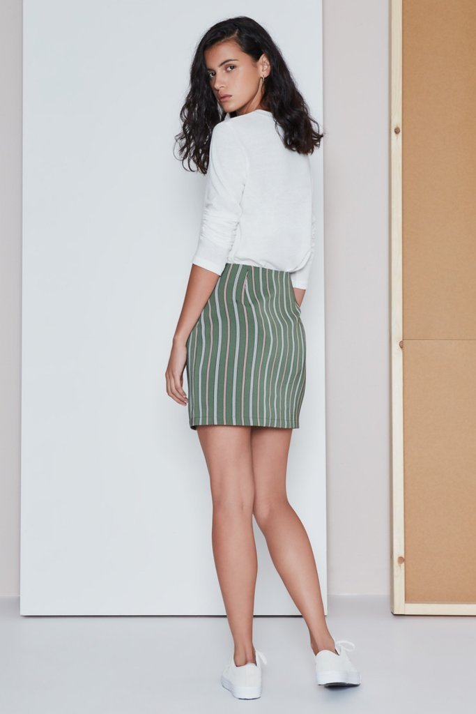 Axial Stripe Skirt