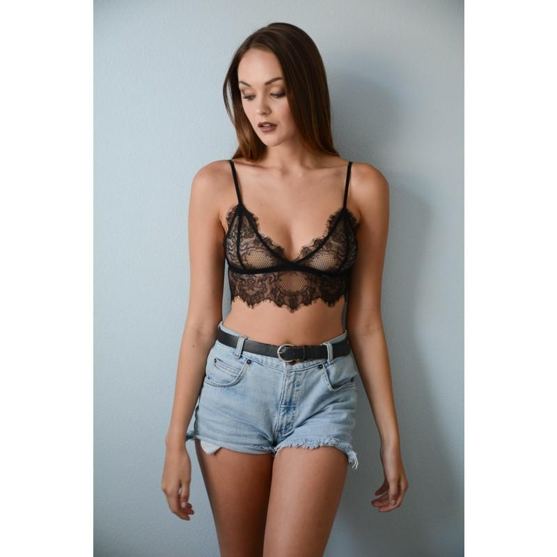 Sheer Eyelash Lace Bralette