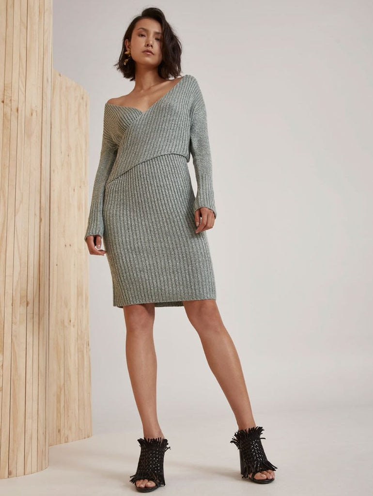 evolution knit dress cmeo collective